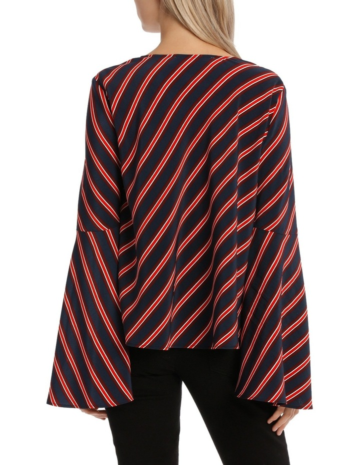 Asymetric Stripe Top image 3