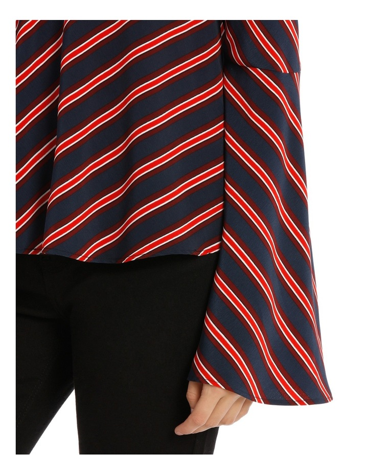 Asymetric Stripe Top image 4