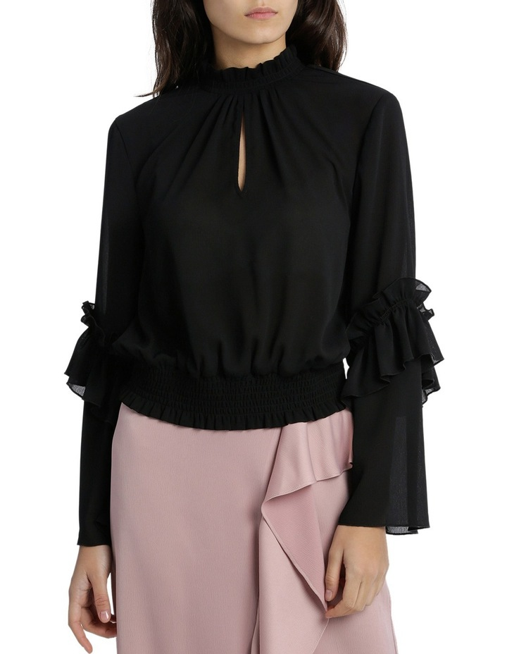 Penelope High Neck Shirred Top image 1