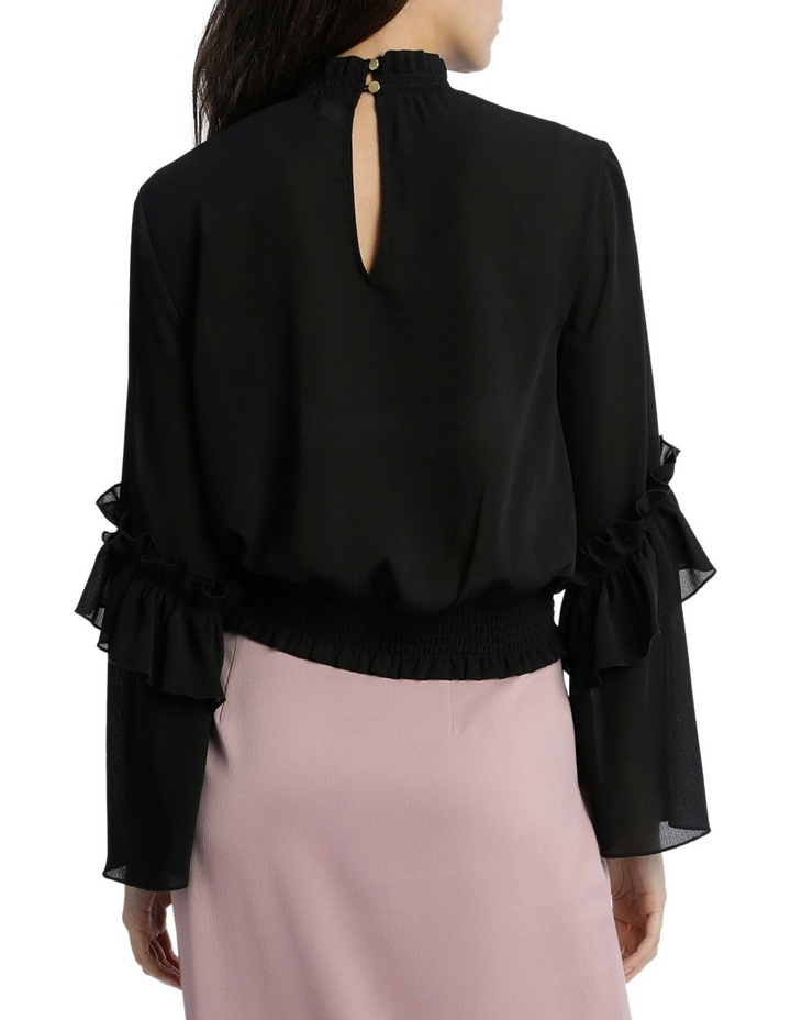 Penelope High Neck Shirred Top image 3