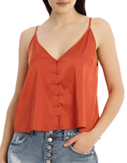 Button Front Cami