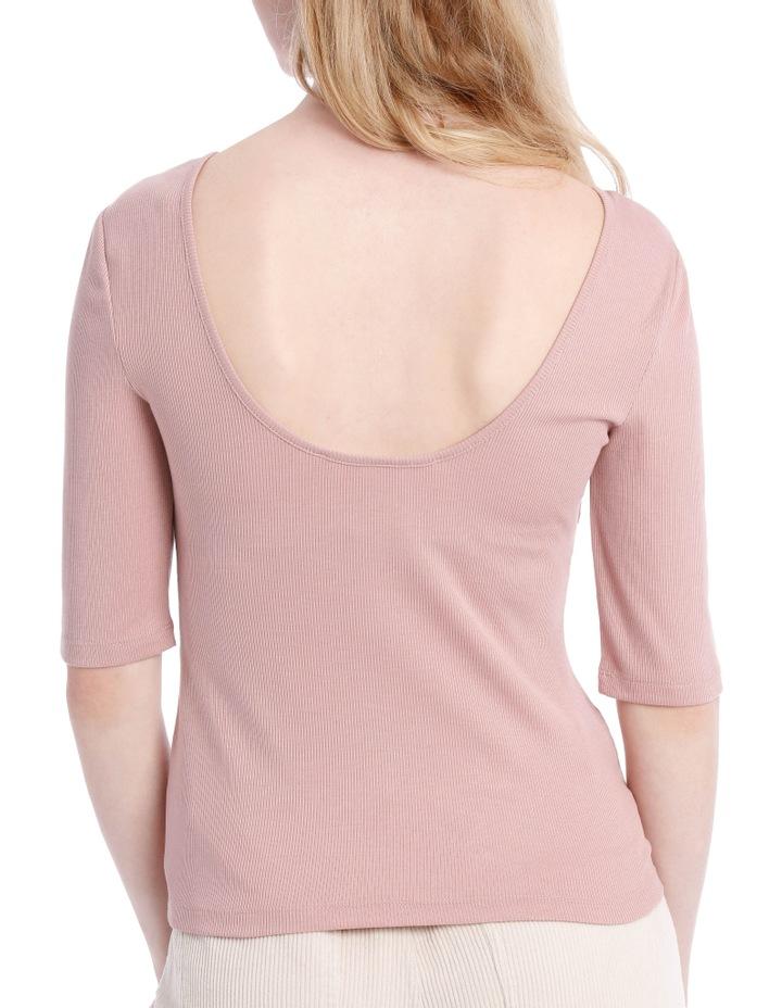 Elbow Length Scoop Back Tshirt image 3