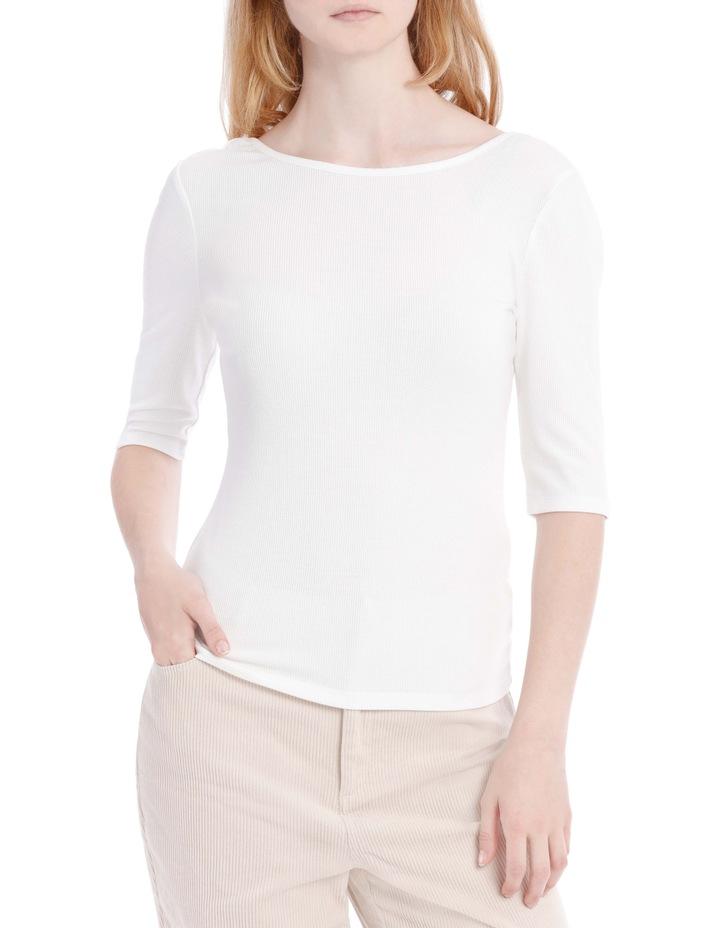 Elbow Length Scoop Back Tshirt image 1