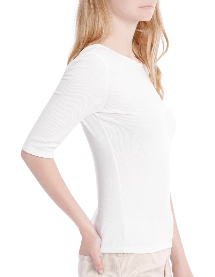Elbow Length Scoop Back Tshirt image 2