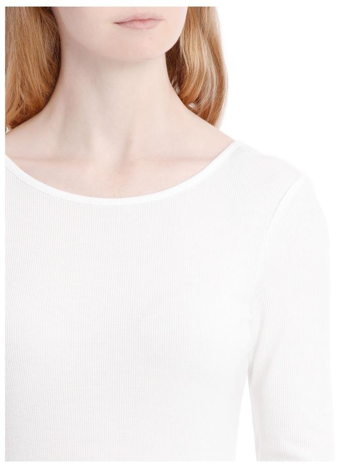 Elbow Length Scoop Back Tshirt image 4