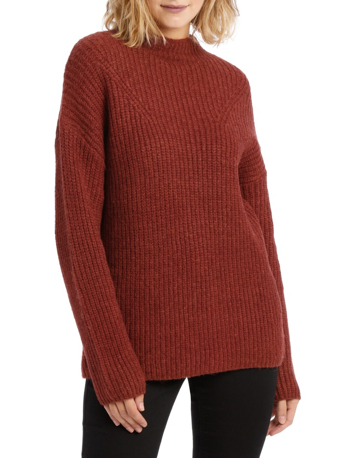 Rib Roll Neck Knit image 1