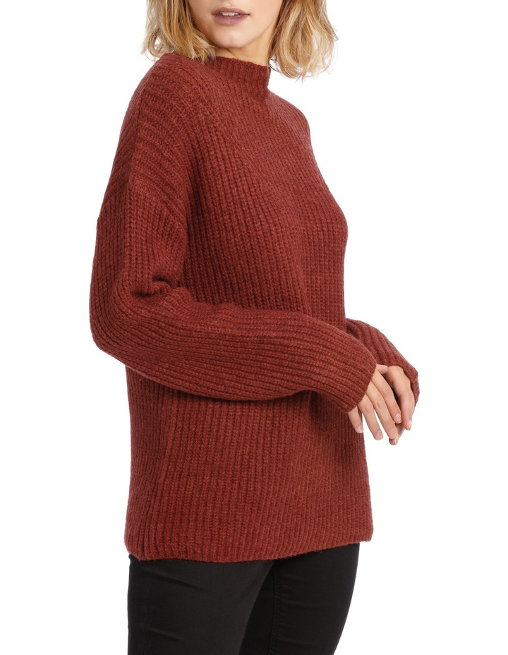 Rib Roll Neck Knit image 2