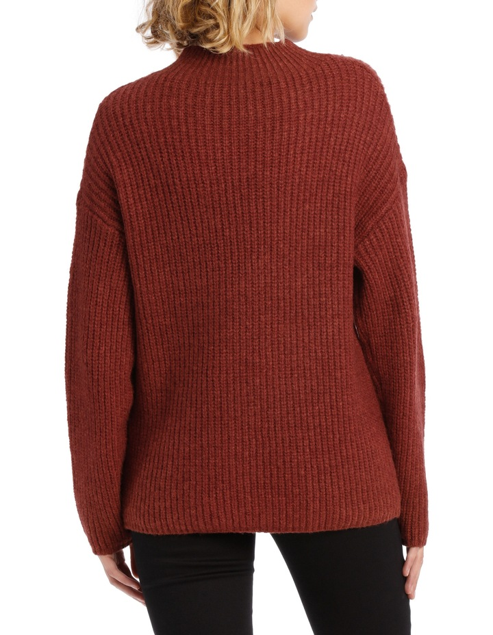 Rib Roll Neck Knit image 3