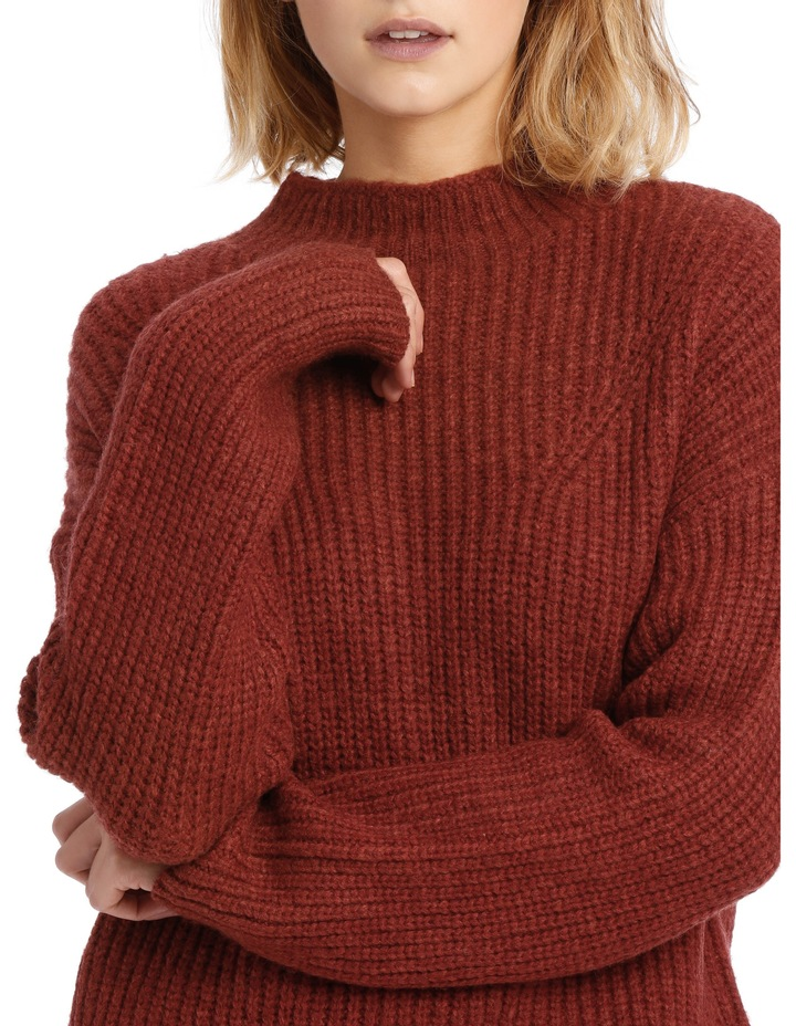 Rib Roll Neck Knit image 4