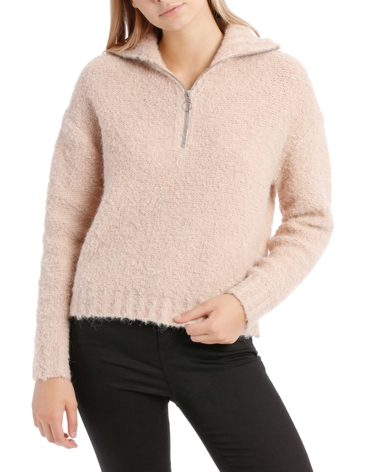 Zip Front Textured Knit image 1