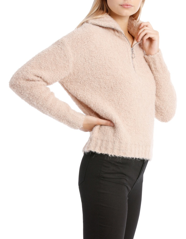 Zip Front Textured Knit image 2