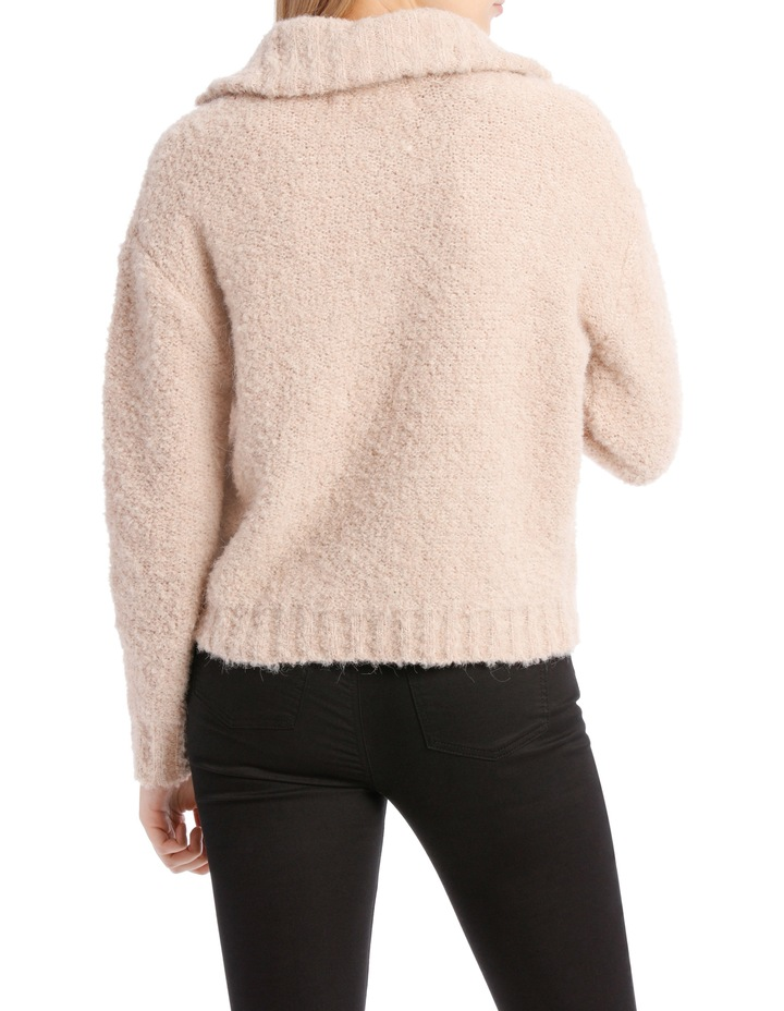 Zip Front Textured Knit image 3