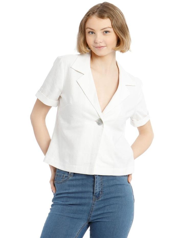One Button Crop Shirt image 1