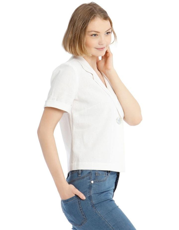 One Button Crop Shirt image 2