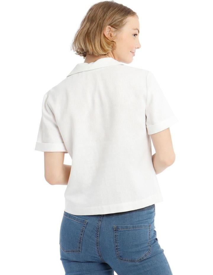 One Button Crop Shirt image 3