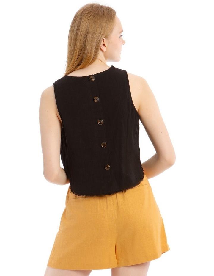 Button Back Fringe Trim Cami image 3