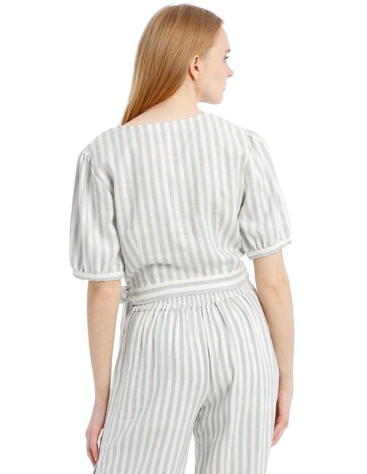 Linen Blend Wrap Top image 3