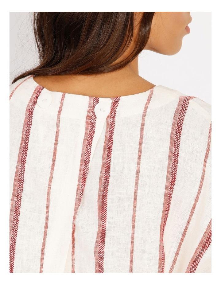Linen Blend Boxy Cross Back Top image 4