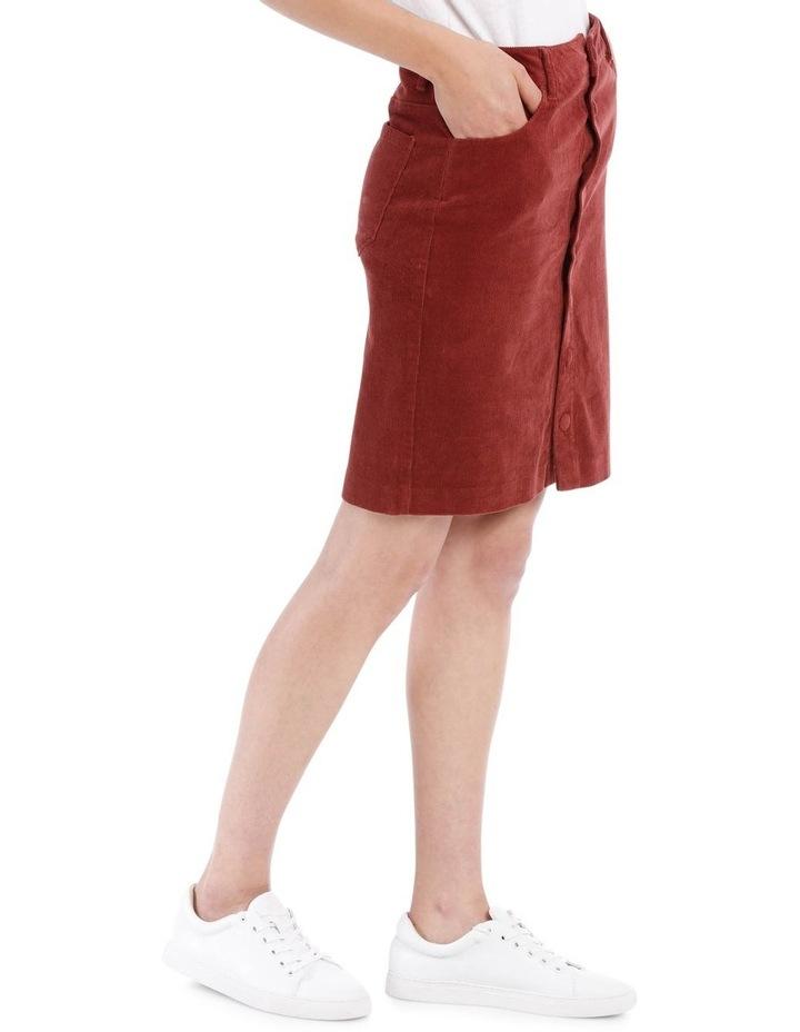 Cord Button Through Midi Skirt image 2