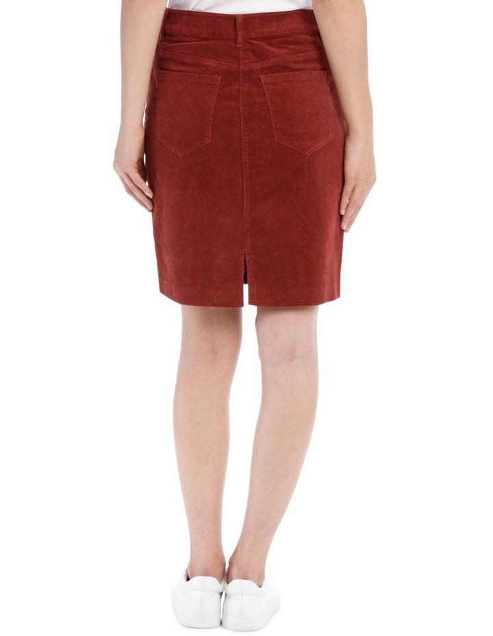 Cord Button Through Midi Skirt image 3