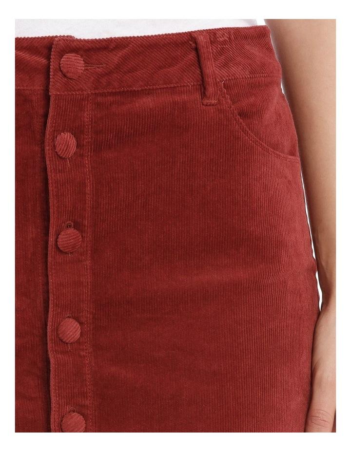 Cord Button Through Midi Skirt image 4
