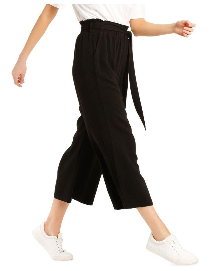 Paperbag Waist Wide Leg Linen Blend Pant image 2