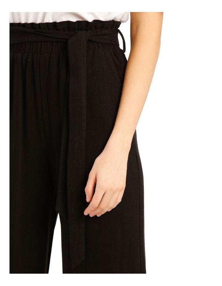 Paperbag Waist Wide Leg Linen Blend Pant image 4