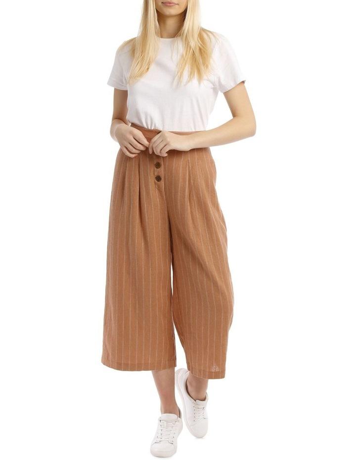 Button Front Soft Linen Pants image 1