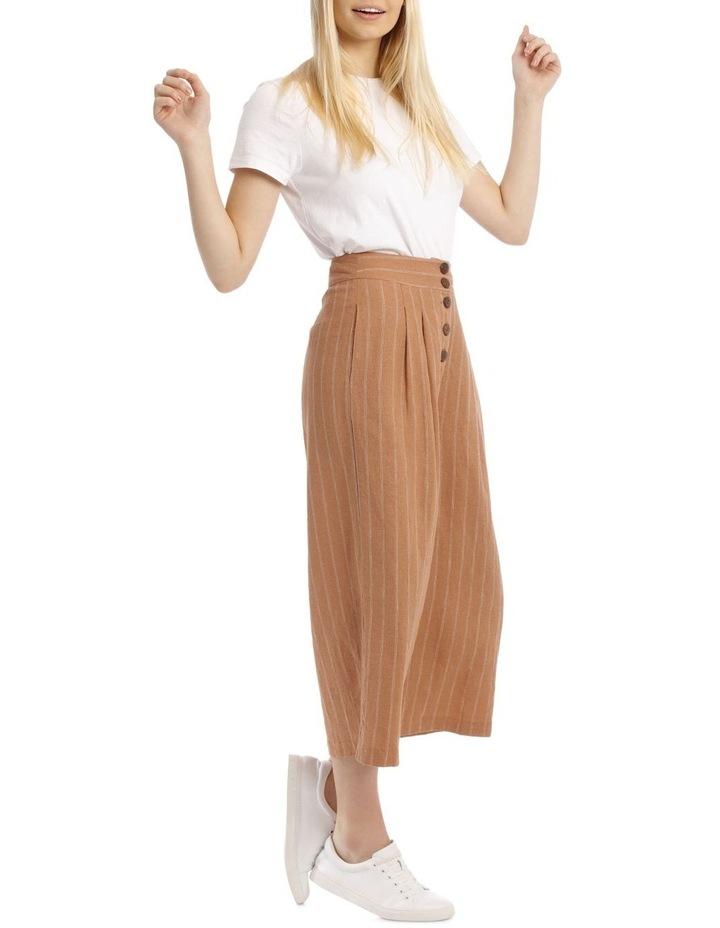 Button Front Soft Linen Pants image 2