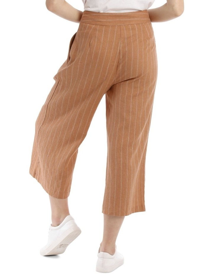 Button Front Soft Linen Pants image 3