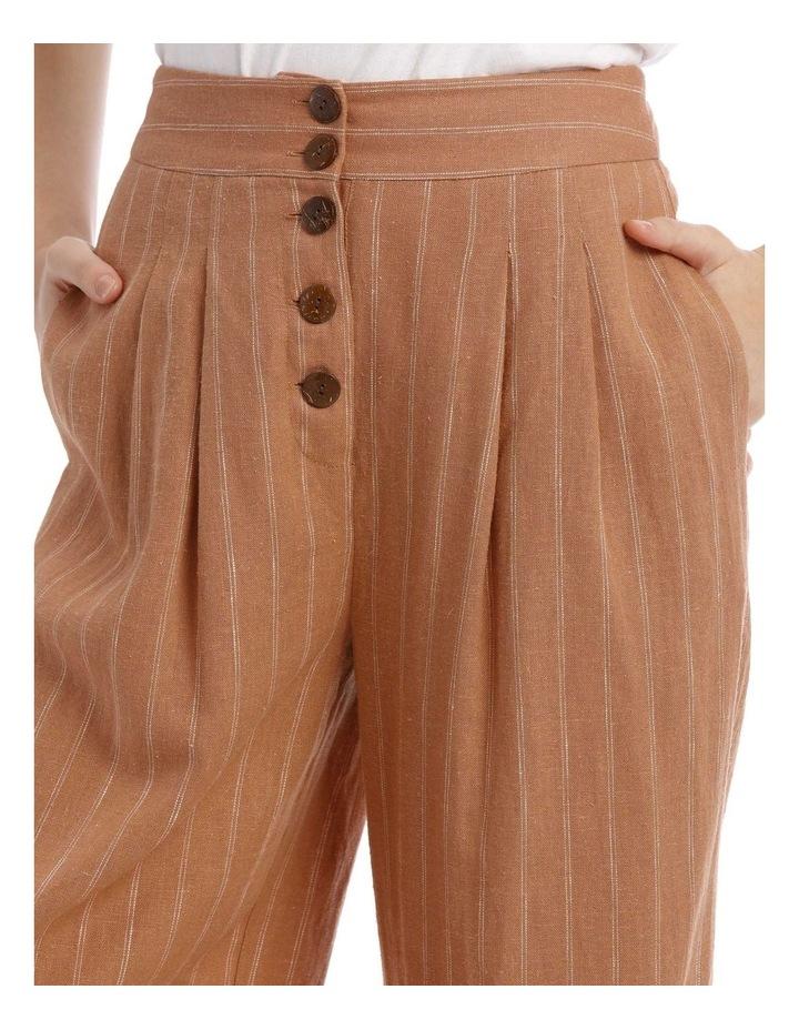 Button Front Soft Linen Pants image 4