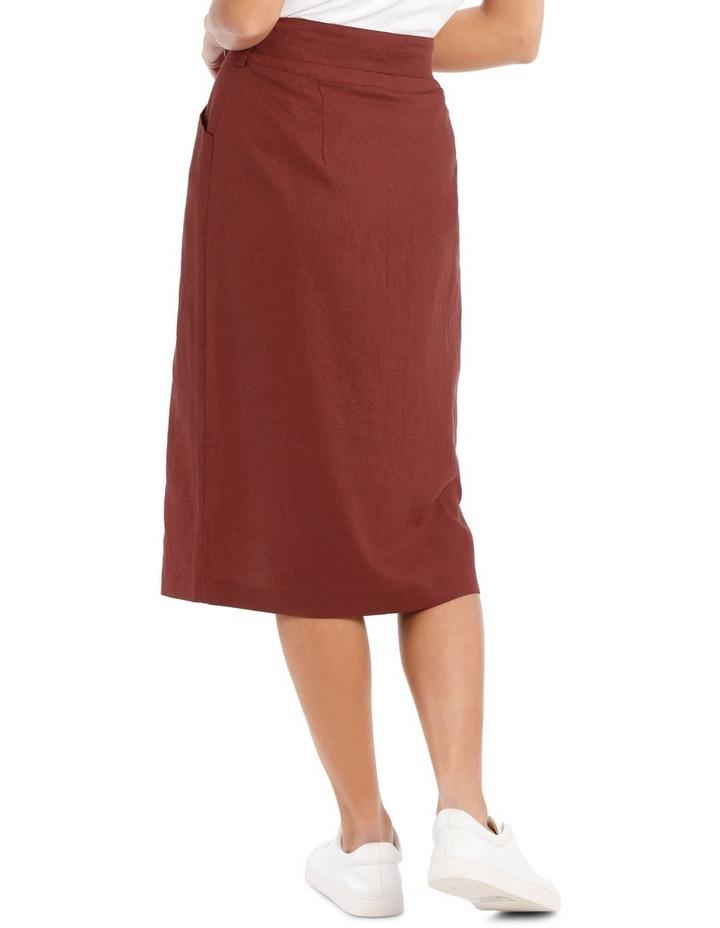 Button Thru Midi Skirt image 3