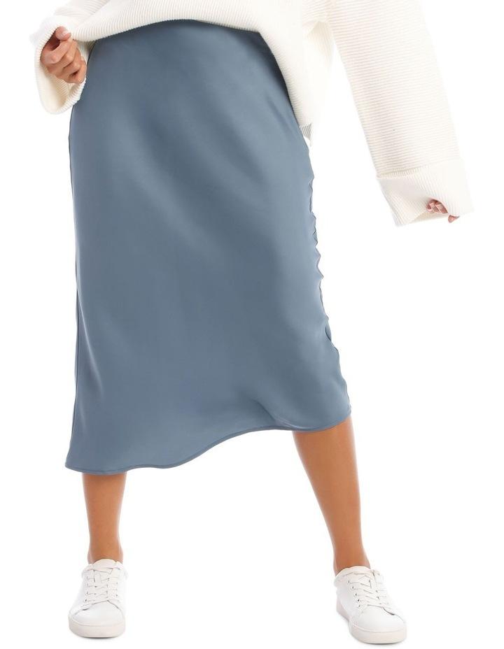 Steel Blue Slip Skirt image 1