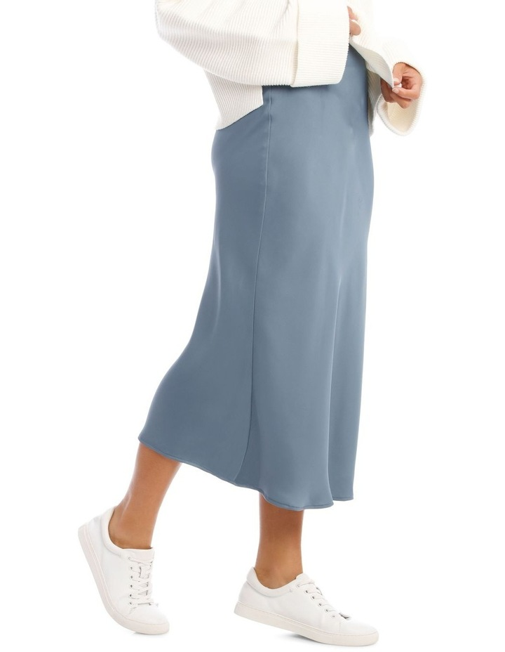 Steel Blue Slip Skirt image 2