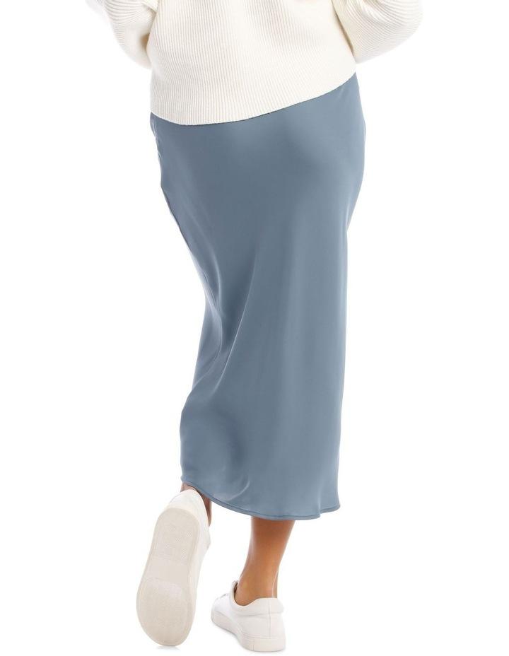 Steel Blue Slip Skirt image 3