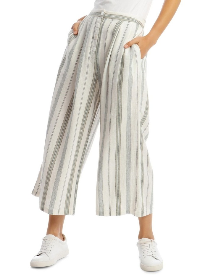 Pleat Front Linen Pants image 1