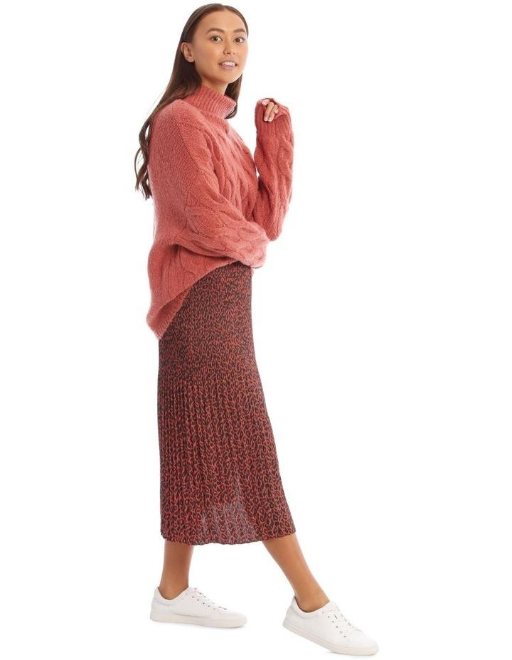 Gradual Pleat Side Split Skirt - Clay Animal image 2