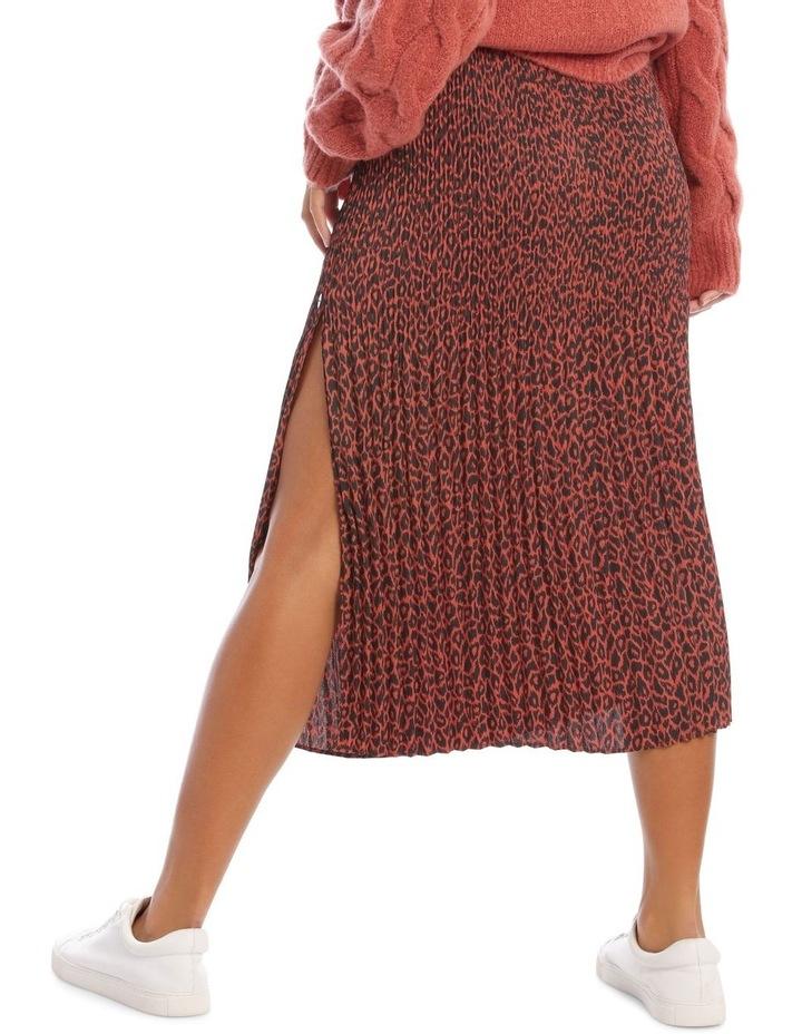 Gradual Pleat Side Split Skirt - Clay Animal image 3