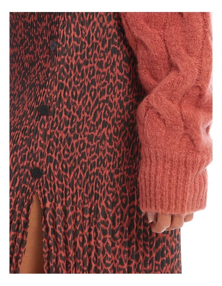 Gradual Pleat Side Split Skirt - Clay Animal image 4