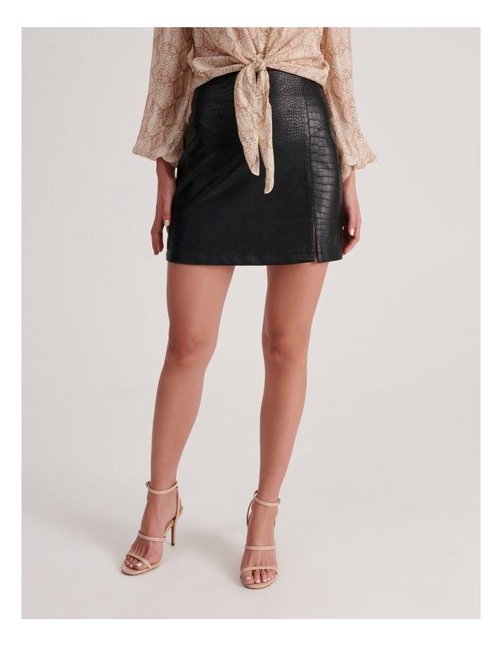 PU Animal Mini Skirt image 1