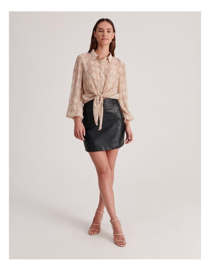 PU Animal Mini Skirt image 2