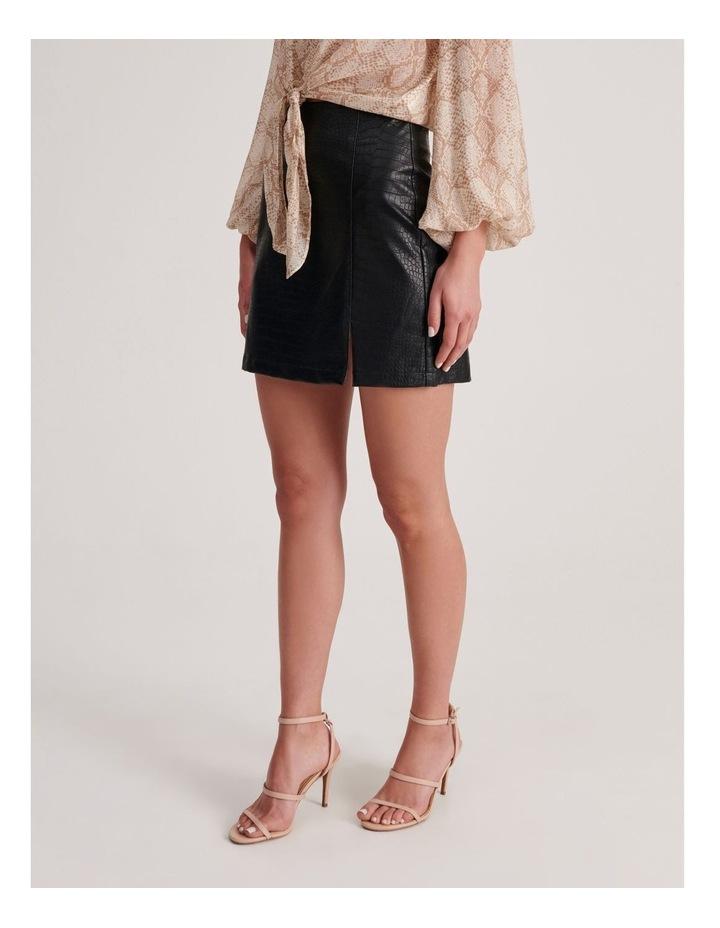 PU Animal Mini Skirt image 3