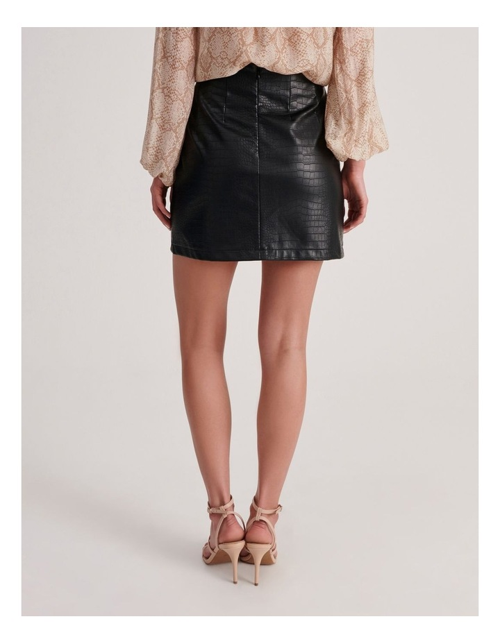 PU Animal Mini Skirt image 4