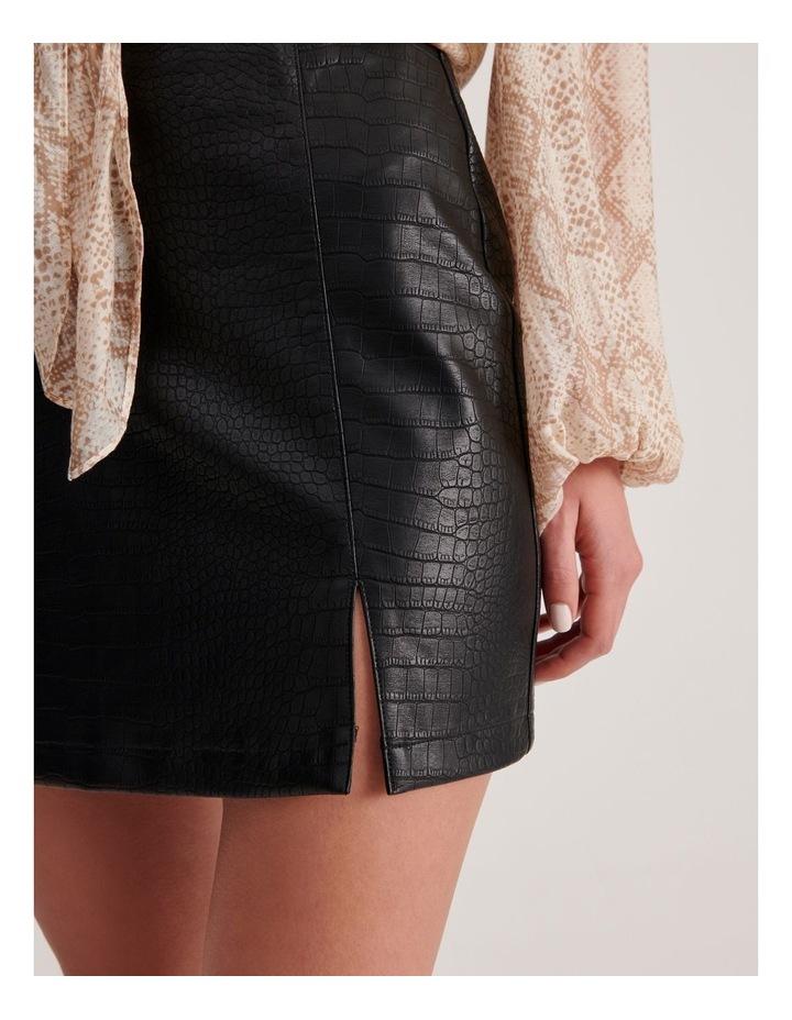 PU Animal Mini Skirt image 5