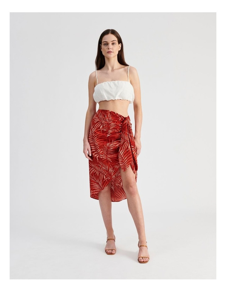 Sarong Skirt in Red Palm Print image 2