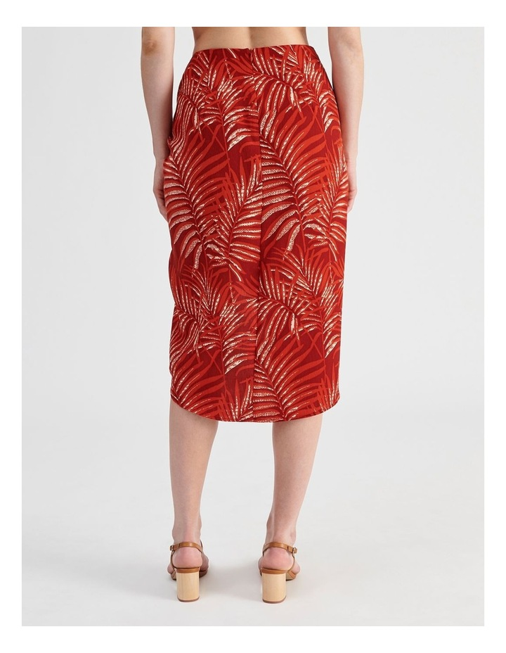 Sarong Skirt in Red Palm Print image 4