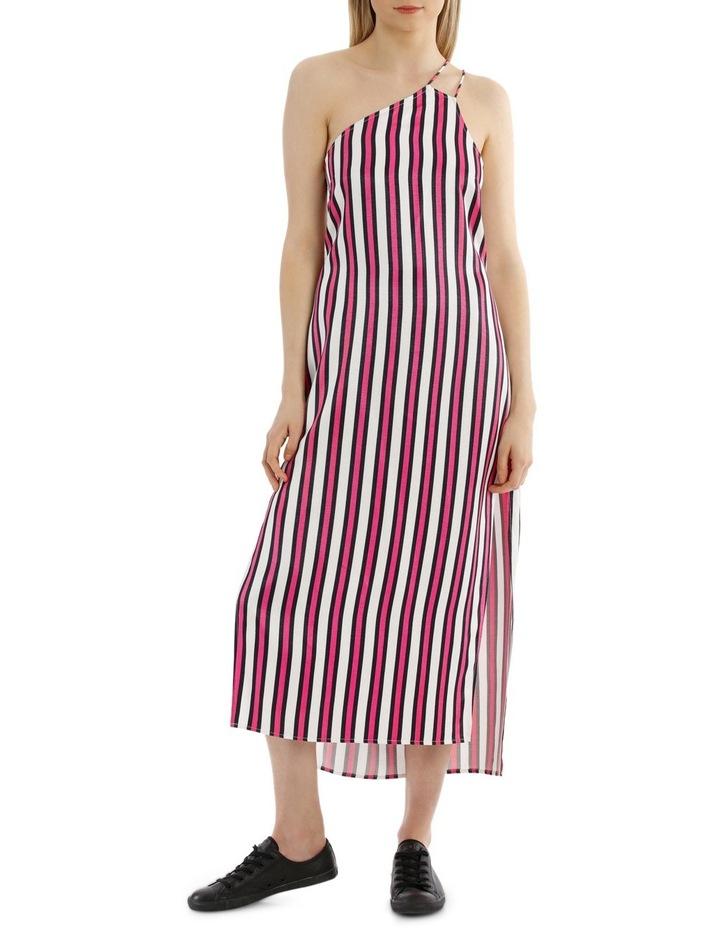 One Shoulder Stripe Dress image 1