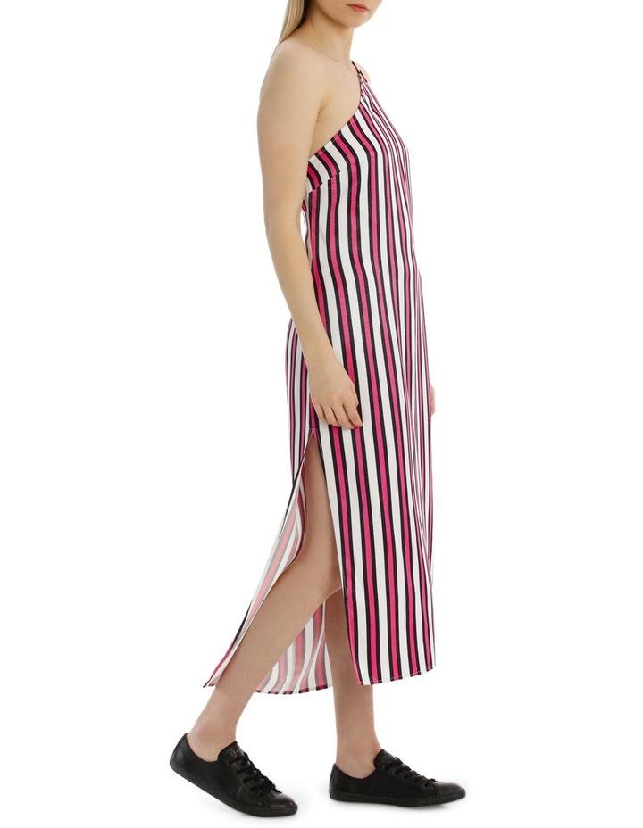 One Shoulder Stripe Dress image 2