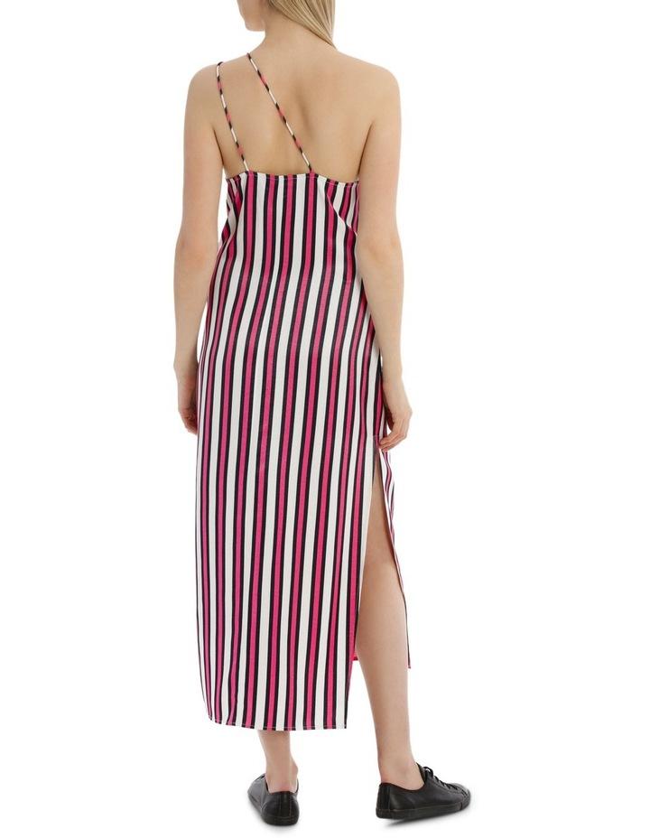 One Shoulder Stripe Dress image 3