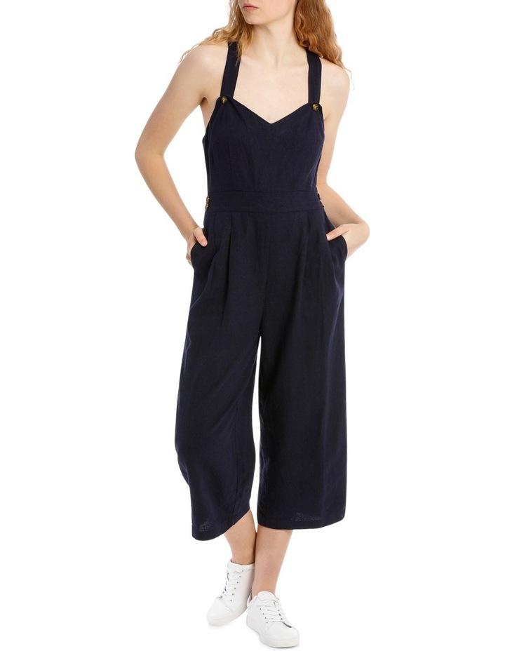 Linen Blend Culotte Jumpsuit